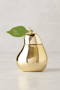 Cute golden pear candle {love this}