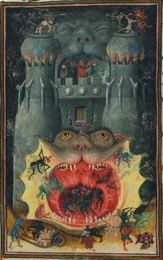 Mouth of hell, detail - Hours of Catherine of Cleves