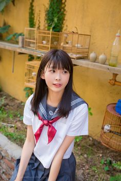 Japanese High School, Japanese School Uniform, School Uniform Girls, Girls Uniforms, High School Girls, School Uniforms, School Girl Japan, Japan Girl, Cute Asian Girls