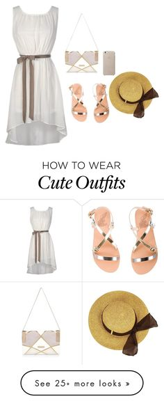 """""""cute beach day outfit"""" by that-fashionista-girl on Polyvore featuring Ancient Greek Sandals and River Island"""