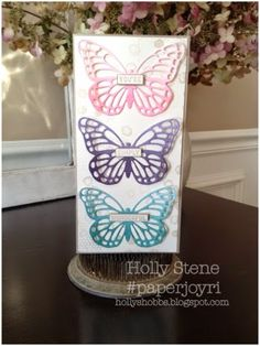 Holly's Hobbies - Stamping, Baking & Photo Making Stampin' Up! Butterfly Basics Ombré Butterfly Framelits