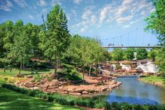 What is this town, this hidden spot in South Carolina, doing right? Community pride is off the charts—we visited to find out why. Places To Travel, Places To See, Downtown Events, Greenville South Carolina, Travelers Rest, Pedestrian Bridge, Great Vacations, Travel Usa, Travel Info