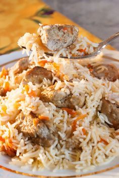 Meat Pilaf – Russian Plov Rice would have to be one of my favorite foods. It's neat because it reflects many different cultures by simply adding or preparing it in different ways. Ukrainian Recipes, Russian Recipes, Ukrainian Food, Meat Recipes, Dinner Recipes, Cooking Recipes, Recipies, Russian Dishes, Kitchen