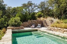 Swimming Pool Ideas: Secret maquis and sea villa for rent in Olmeto Backyard Pool Designs, Swimming Pool Designs, Pool Landscaping, Backyard Pools, Infinity Pool Backyard, Swiming Pool, Natural Swimming Pools, Kleiner Pool Design, Small Pools