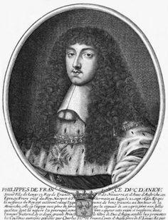 Phillipe l, the Duke of Orleans Luigi Xiv, French Royalty, Duc, Vintage Couture, Louis Xvi, Versailles, Costume, Portrait, Craft