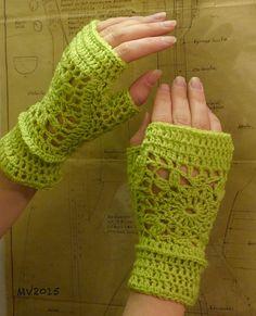 Crochet gloves hand warmers by MianVirkkuut on Etsy