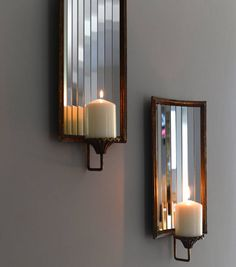 Wall Candle Decor large candle sconces, ivory candle holder, shabby wall sconce