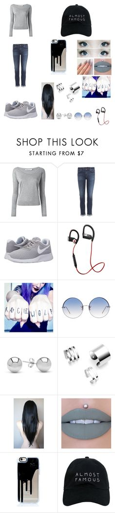 """""""Just Breathe"""" by sabrinabriones-10 ❤ liked on Polyvore featuring T By Alexander Wang, AG Adriano Goldschmied, NIKE, New Balance, Linda Farrow, Jewelonfire and Nasaseasons"""