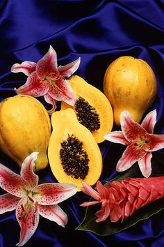 Winter is the season for papayas. Papayas are more than just a tropical fruit, they are becoming more incorporated in our road to wellness. Papayas are loaded with antioxidants (vitamin C, flavinoids, carotenes), vitamin B, potassium, beta carotene and magnesium and contain an enzyme that can help protect our skin from premature aging.  According to an Alternative Medicine article, this enzyme, called Papain, is being added lotions and other skin care products. Papain acts as an exfoliant…