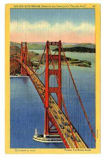 "Golden Gate Bridge Spanning San Francisco's ""Golden Gate."""