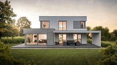 Rumah kontemporer sederhana