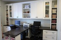 this is the style we're going for when we do our office ... love that center work space