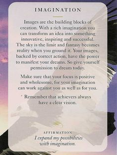 "** ""Imagination"" Today's Wisdom Card @dianacooper"