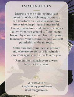 "** ""Imagination"" Today's Wisdom Card @dianacooper"