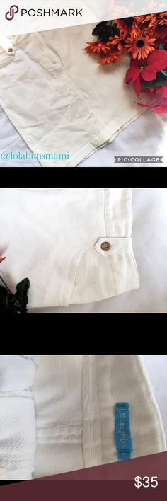 """J Mclaughlin White Denim Skirt Really cute. Great condition. No rips or stains. Waist is 15 inches and Length is 20""""inches J . Mclaughlin Skirts Mini"""