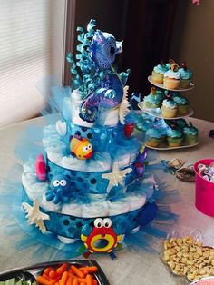 underthesea themed diaper cake