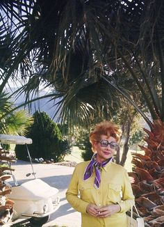 lucille–ball:  Lucille Ball on a golf course in Palm Springs, 1960s
