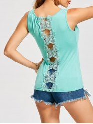 Hollow Out Butterfly Lace Back Tank Top