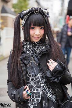 Harajuku Girls in Twin Tails & Dark Styles w/ h. NAOTO, Putuyamo & Vivienne Westwood (Tokyo Fashion, 2015)