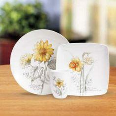 Sunflower Dinnerware   ... sketchbkok sunflower mug lenox artist sketchbook sunflower mug & corelle sunsations pattern   Tableware Gibson Sunflower Grace 16 ...