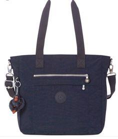 Kipling Bertram Tote Shoulder Bag Crossbody True Blue Navy #Kipling #TotesShoppers