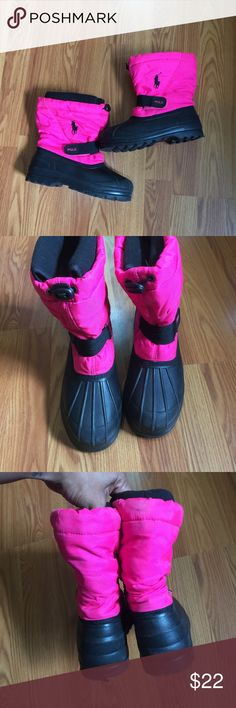 Polo Snow Boots Pink and Black Good condition. Polo by Ralph Lauren Shoes Rain & Snow Boots