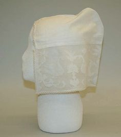 Cap  Date:     first quarter 18th century Culture:     Dutch Medium:     linen Upside down!