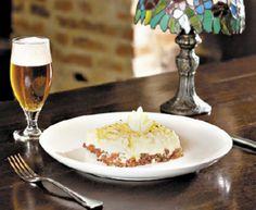 Shepherd's Pie de Linguiça Blumenau, prato exclusivo para o Festival Gastronômico de Blumenau.