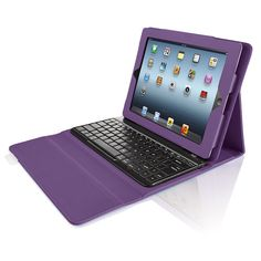 iPad case with built-in bluetooth keyboard. Love the purple!