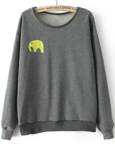 Shop Grey Long Sleeve Elephant Print Sweatshirt online. Sheinside offers Grey Long Sleeve Elephant Print Sweatshirt & more to fit your fashionable needs. Free Shipping Worldwide!