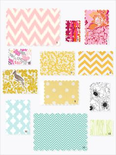 spring fabric colors & patterns
