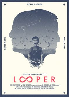 Looper | Movie poster #Gestalt #Figure and Ground #Symmetry