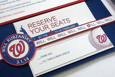 Baseball Bar Mitzvah Invitation by PlainJaneGraphics on Etsy, $8.50