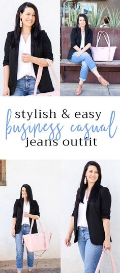 Easy Business Casual Jeans Outfit
