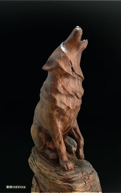 wood carved fox - Google Search