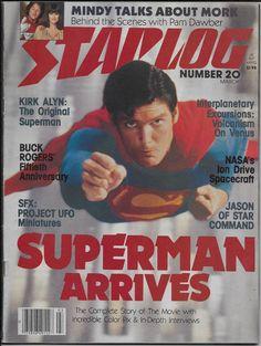 Starlog #20 March 1979 Superman Kirk Allyn Mork Pam Dawber Buck Rogers Ion Drive