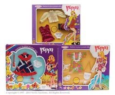 Palitoy Pippa Doll Carded Outfits X 3