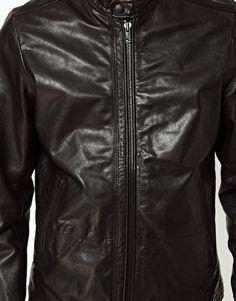 Image 3 ofDiesel Leather Biker Jacket Lagnum