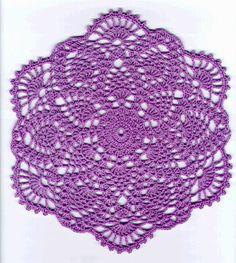 Crochet Pineapple Doily Patterns - Pineapple Lavender Lace Doily Pattern