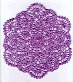 Crochet Pineapple Doily Patterns - Pineapple Lavender Lace Doily Pattern