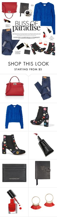 """Bliss of paradisee"" by honestlyjovana ❤ liked on Polyvore featuring Fendi, Cheap Monday, DKNY, Tabitha Simmons, Bobbi Brown Cosmetics, Chanel, Givenchy, Smythson, Haute Hippie and red"