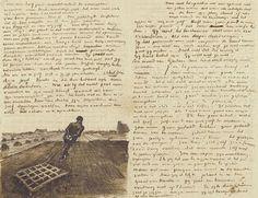 Vincent van Gogh letter. Theo got the best letters in the mail.