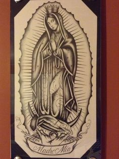Virgen De Guadalupe Drawing by BonillaDrawings on Etsy, $600.00