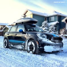 MINI owner Ben T's trusty four-door Snowmobile (A.K.A. MINI Countryman w/ ALL4…