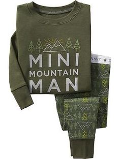 """Mini Mountain"" Graphic Sleep Set for Baby 
