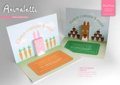 Inviti pop-up per le feste dei bambini! - Pop-up invitations for kids parties