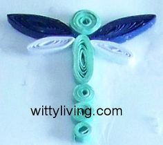 Dragonfly Quilling Pattern design