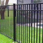 fence-aluminum less expensive than wrought iron