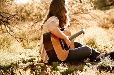 Someone playing guitar