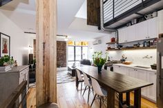 "Apartment in Brooklyn, United States. Spire Lofts / ""The Church"" is one of best known buildings in Williamsburg because of the unique architecture and the artists and entrepreneurs who live here. Our loft is 3 stories, has exposed brick and steal piping, hardwood floors, with stain gl..."